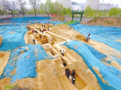 """郑州市区发现四座""""空""""墓葬,两座魏晋墓、两座唐代墓"""