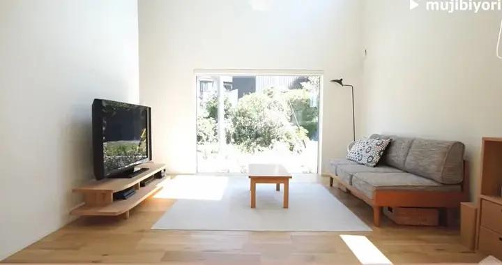 全套MUJI家具、落地窗+开放式厨房