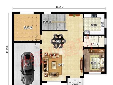 深受农村建房喜爱的二层别墅设计:车库、锅炉房、棋牌室,太美了