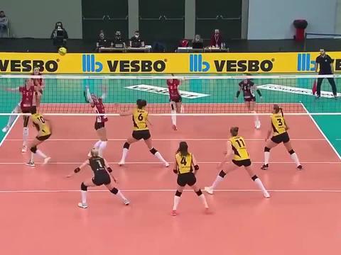 瓦基弗银行女排!CEV制作2021赛季欧冠十佳球!