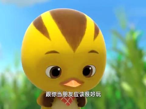 萌鸡小队:麦奇顾着捡米粒,妈妈走远了,都没发现呢!