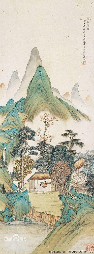 清朝画家钱杜精品山水画作品欣赏