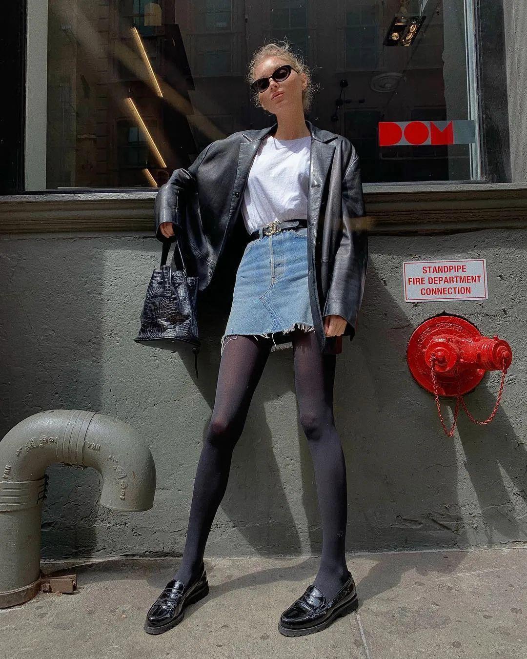 會穿衣服的女孩早已把丹寧風穿上身了!
