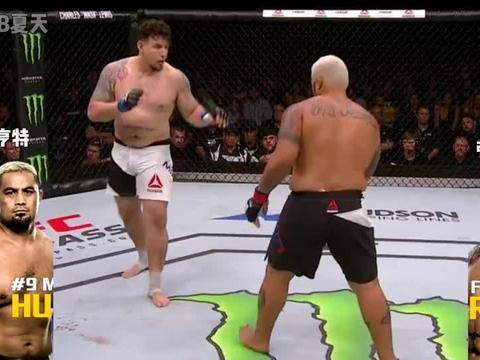 从不补拳的男人,马克亨特KO对手,重炮手结束比赛,只需要一拳