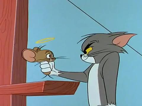 猫和老鼠:杰瑞真是善良,他要用胡椒粉,救出被鲨鱼困住的汤姆!
