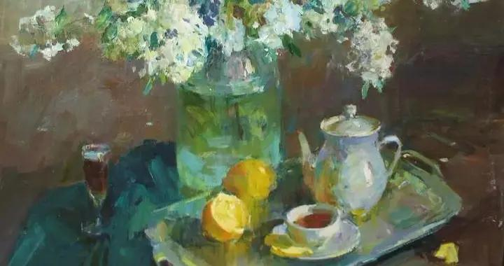 乌克兰画家亚历山大·克里申独特的构图和色彩氛围的风景油画欣赏
