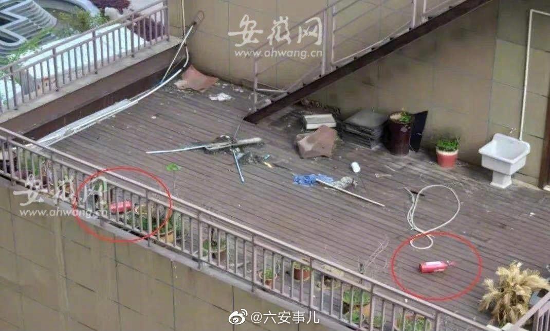 六安一小区三个灭火器从天而降:高空摄像未拍到肇事者!