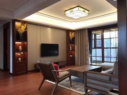 给爸妈换的123平大房子,新中式真的漂亮,算上家电才35万!