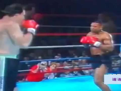 拳王泰森VS巨人,身高相差16公分,这打法就是教科书!