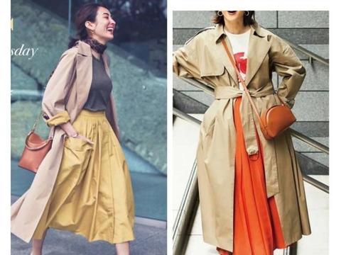 各种颜色的外套春天穿法不一样,配色大有讲究