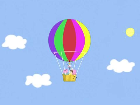 小猪佩奇:热气球飞啊飞,却突然不见了天空,引来佩奇的好奇