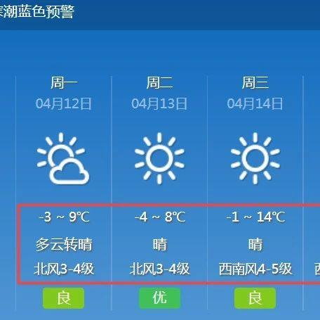 """气温暴跌!内蒙古气温""""大跳水""""局地有霜冻,呼和浩特市发布寒潮蓝色预警信息……"""