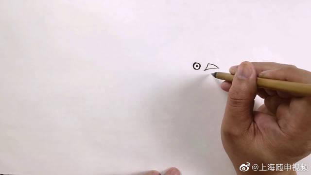 水墨鸟画的另一种画法,一鸟一枝,俏皮活泼,您学会了吗