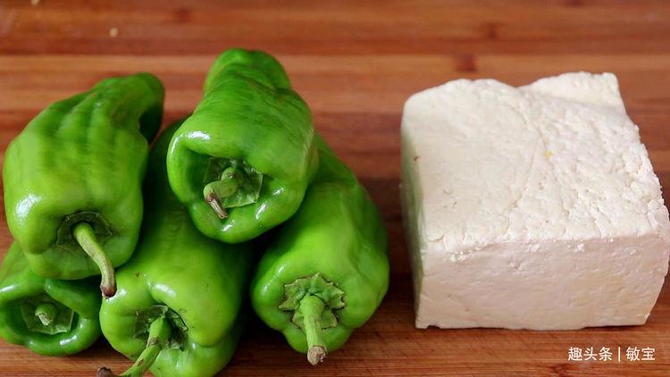 大厨教你这做豆腐肉末青椒段,香辣可口,超级下饭,特别好吃