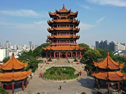 黄鹤楼 登高望远,整个武汉市都尽收眼底 低音号旅游