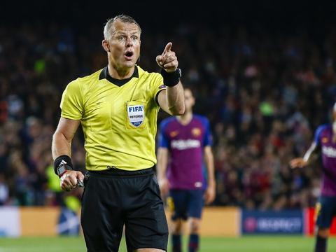 荷兰裁判库伊佩尔斯将执法利物浦VS皇马比赛