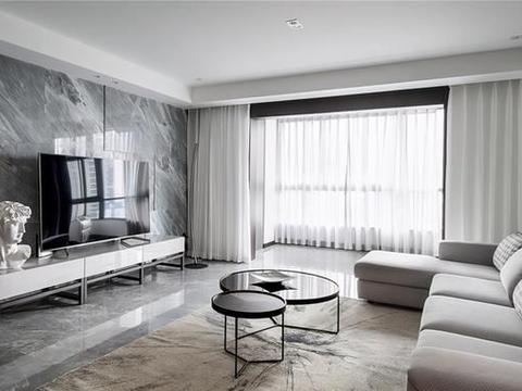黑白之间,220平大平层现代装修恰到好处,迸发低调奢华之气