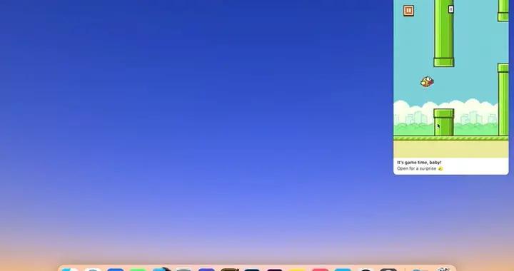 开发者将经典iOS游戏Flappy Bird再现为交互式macOS通知