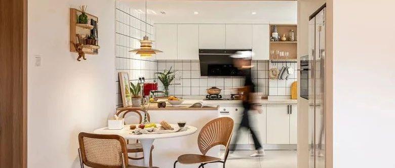 63平的日式温暖小家,还拥有开放式厨房!