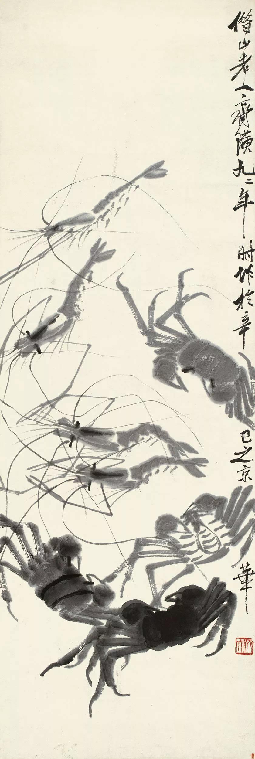 少白公子-汤发周揭秘:都知道齐白石画虾画蟹造诣深,蜘蛛更值钱