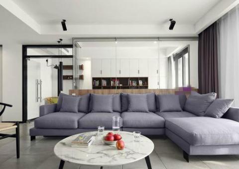 她家158平米,客厅设计了个书房,全屋通透上档次,太棒了