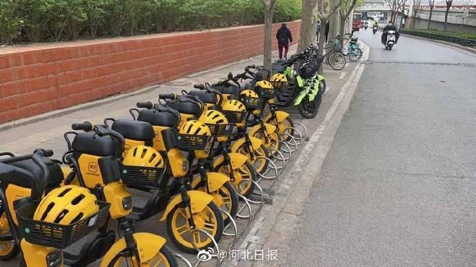 15000辆共享电单车在石家庄陆续投放 工作人员提醒:偷拿电单车头盔属违法行为