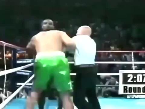 泰森出狱后首战,一战封神,一拳干翻世界拳王,裁判都一阵后怕