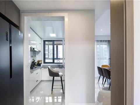 137㎡三居室,多功能书房+LDK一体化设计,空间互动性超强