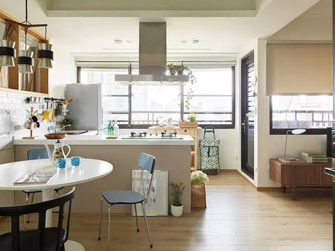50平新房,采光好的让人羡慕,装修清爽雅致
