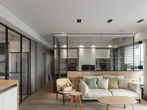 129㎡拥有了大横厅,整屋采光不用担心,哪怕客厅隔出个书房都敞亮