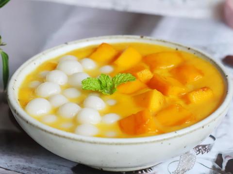 芒果小丸子,做法简单,糯叽叽甜丝丝超好吃,冷藏口味更好