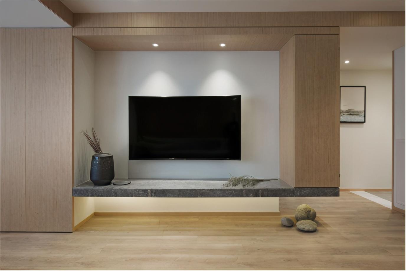 东方气息空间,木作装饰自然沉稳,室内流淌书香雅意