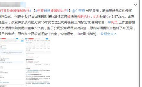 """何炅父亲被强制执行43.97万,粉丝强行洗白让路人""""意难平"""""""