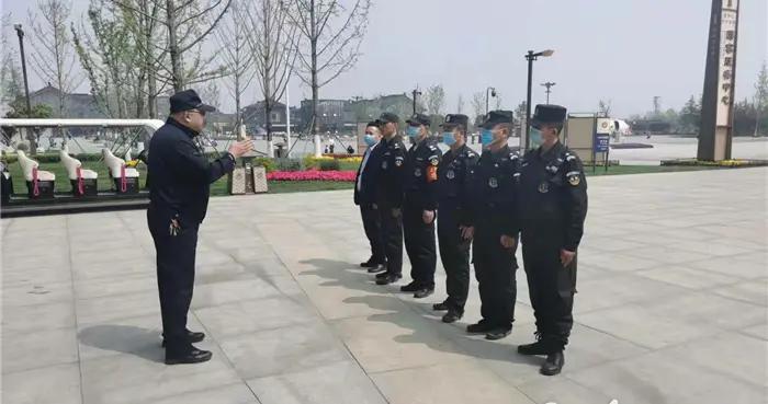 沣东新城分局镐京大道派出所开展景区保安培训