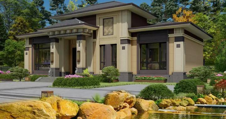 2层新中式复式别墅,客厅挑空,4室2厅,20万左右建成