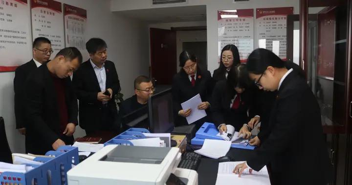 县政法队伍教育整顿复评工作组到周至法院开展学习教育环节复评工作