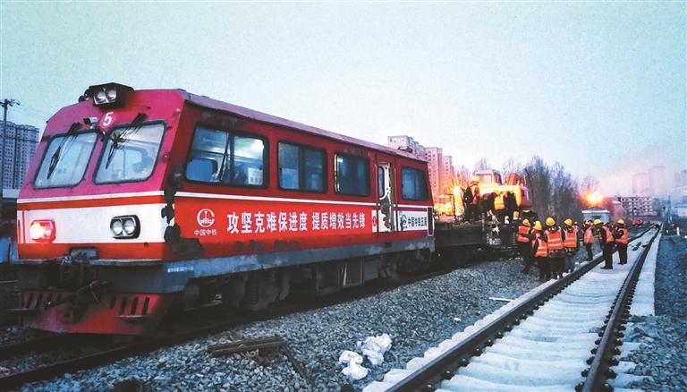 牡佳高铁牡丹江站完成接口换轨