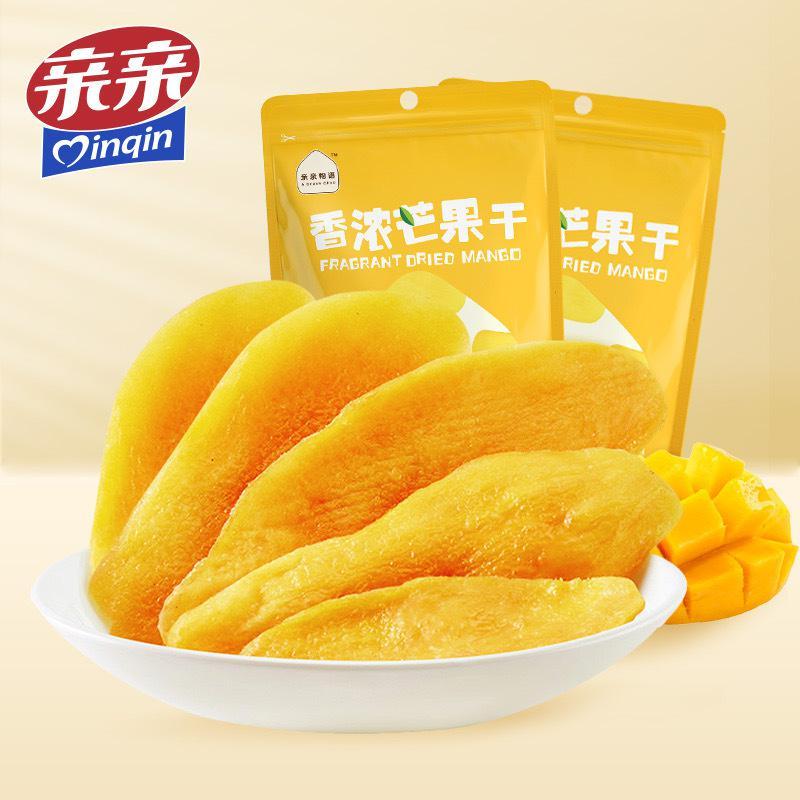 亲亲芒果干100g*3袋泰国风味水果干果脯蜜饯零食小吃食品芒果片