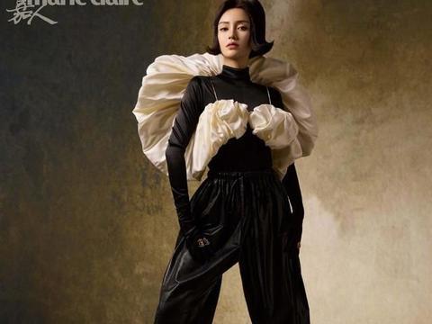 angelababy嘉人5月刊封面曝光,穿着Dior高定服饰登封,复古优雅