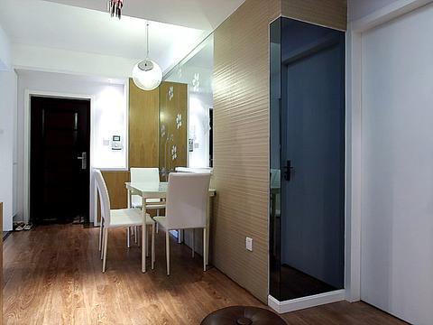 60㎡新房,客厅太小不买沙发做一体柜,实用极了!