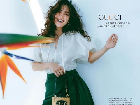 优雅清新的日系编织包穿搭,精致的手提编织包,搭配出优雅穿搭
