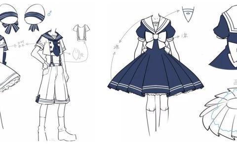 如何画好二次元Q版动漫人物衣服