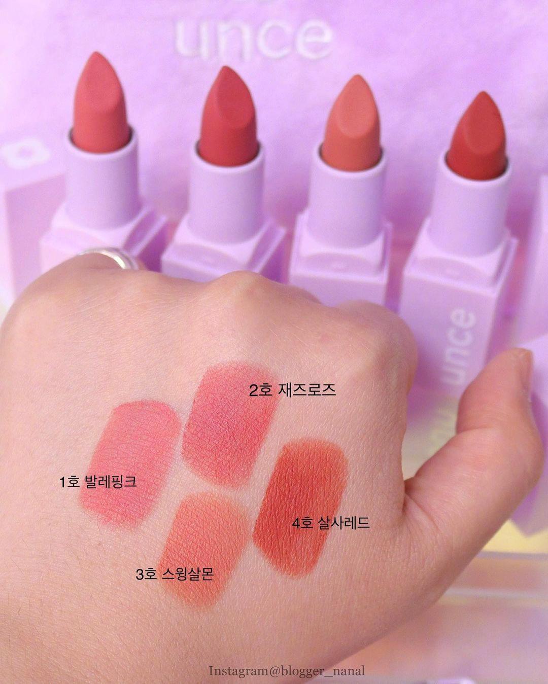最近超火的韩国小众唇膏适合合集 清新甜美的少女色太喜欢啦!