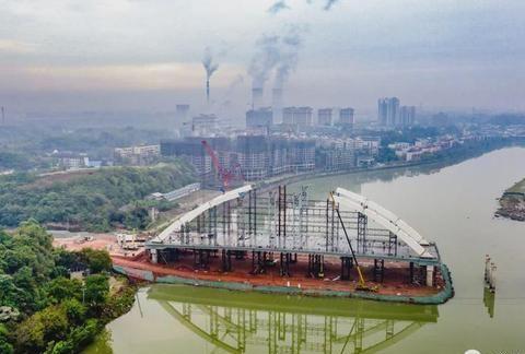 快看!金堂又一座网红桥即将成型!