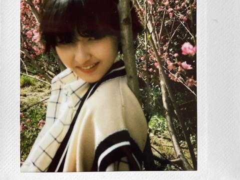 张子枫春游桃花林,躲在桃花树后合影姿势俏皮,网友:人比花娇