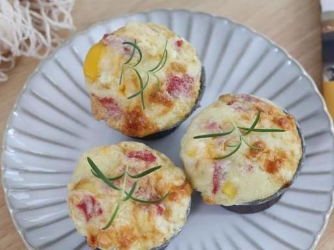 晒晒我的快手早餐,网红韩式鸡蛋糕,不用发酵和打发,10分钟搞定