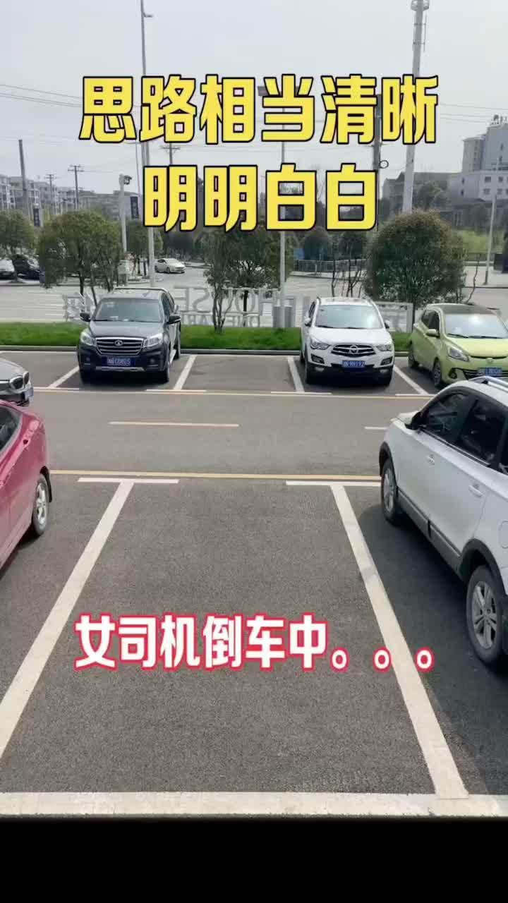 女司机停车……