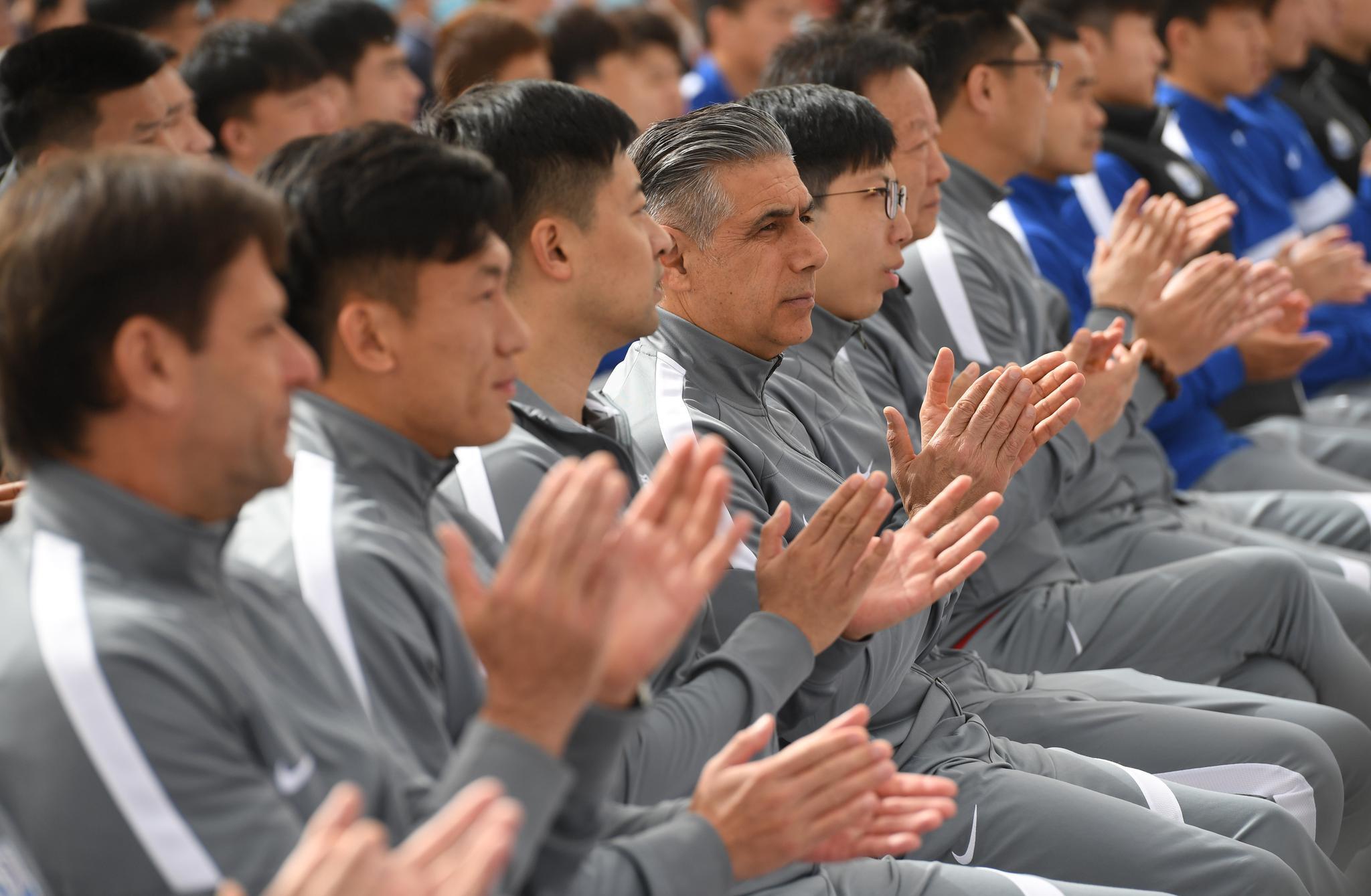 足球——沧州雄狮队举行2021赛季中超联赛出征仪式