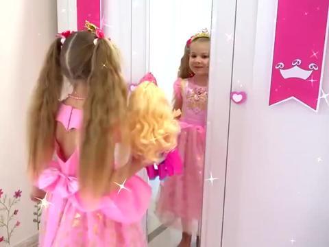萌娃小可爱勇敢拯救猫咪,还把小伙伴装扮成了小公主,真好看