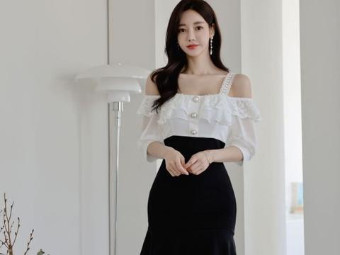 美人图鉴孙允珠:爱丽丝漫雪童话北欧叠花吊裙